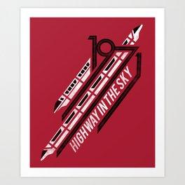Monorail Red Art Print