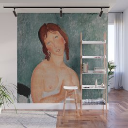 "Amedeo Modigliani ""Young Woman in a Shirt (The Little Milkmaid)"" Wall Mural"