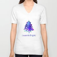 christmas tree V-neck T-shirts featuring Christmas Tree by tscreative