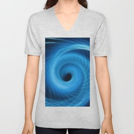 Eye Of The Storm Fiber Optic Light Painting Unisex V-Neck