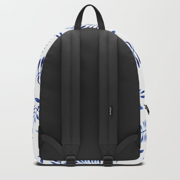 Blue nature || watercolor Backpack