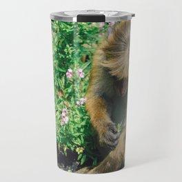 Monkey at the Royal Botanical Garden, Kandy, Sri Lanka Travel Mug