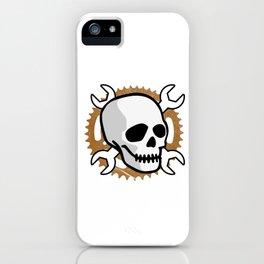 Motocross Motorsport Mechanic Gift Skull Biker Motorcycle Biker iPhone Case