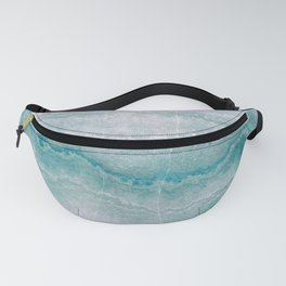 Sea green marble texture Fanny Pack