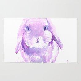 Pink & Purple Bunny Watercolor Rug