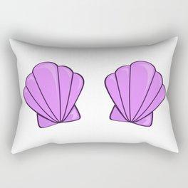 sea shell bra purple Rectangular Pillow