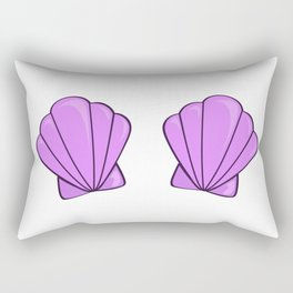 sea shell bra purple Rectangular Pillow