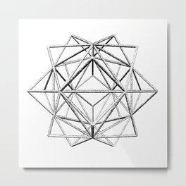 Hedron Cushion Metal Print