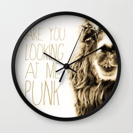Are You Looking At Me Punk Wall Clock