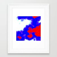patriotic Framed Art Prints featuring Patriotic Sky by Christy Leigh