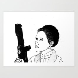 Princess Leia Art Print