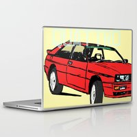 audi Laptop & iPad Skins featuring AUDI QUATTRO BRITISH EDITION 20V RED and BEIGE by Егор Шиянов