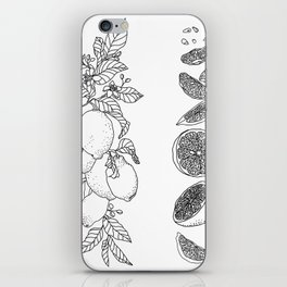 Citrus Branch of Lemons and Slices of Fruit iPhone Skin