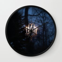 Chandelier in the Wild Wall Clock