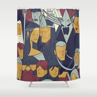 ale giorgini Shower Curtains featuring The Return of the King by Ale Giorgini