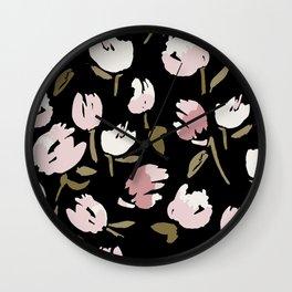 Bold floral pattern Wall Clock