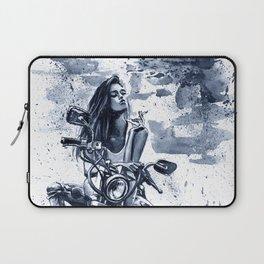 Biker Girl Laptop Sleeve