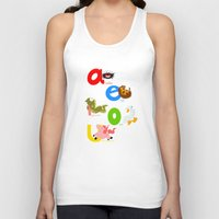 spanish Tank Tops featuring Vowels (spanish) by Alapapaju