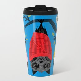 Bats in Blankets Metal Travel Mug
