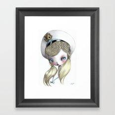 Girl in Uniform Framed Art Print