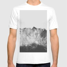 Crystal Soul Geode Mens Fitted Tee LARGE White