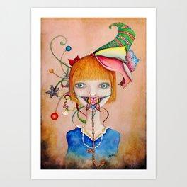 Pink Pepper Art Print