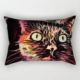 Demon Cat Rectangular Pillow