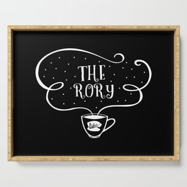 The Rory (white font) - gilmore girls inspired Serving Tray