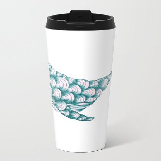 Turquoise Whale Metal Travel Mug