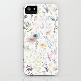 Spring Floral meadow iPhone Case