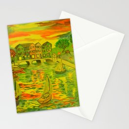 HarborSide Oil Painting Stationery Cards