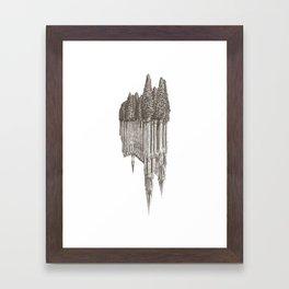 Gothic Revival on white Framed Art Print