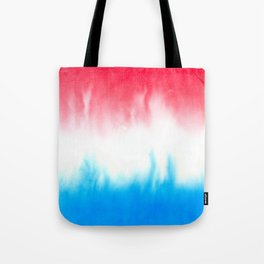 Red White and Blue Flowing Watercolors Tote Bag