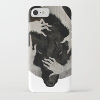 creepy iPhone & iPod Cases featuring Wild Dog by Corinne Reid