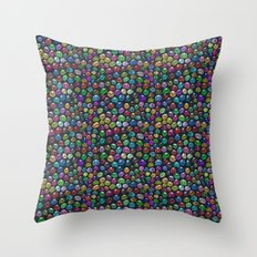 Candied Skulls Throw Pillow