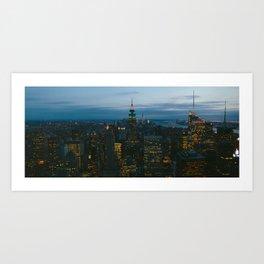 Manhattan is Never Dark Art Print