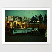 County Fair- Extra Large Italian Sausage.  Art Print