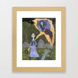 Followed By an Interdimensional Girl Framed Art Print
