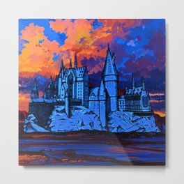 HOGWARTS CASTLE AT PAINTING Metal Print
