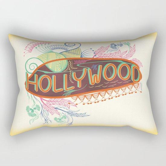 Decorative Typographic Rectangular Pillow