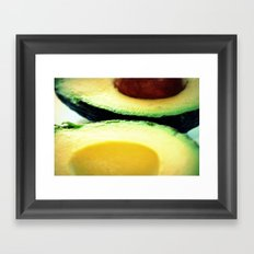 Avocado Slice Framed Art Print