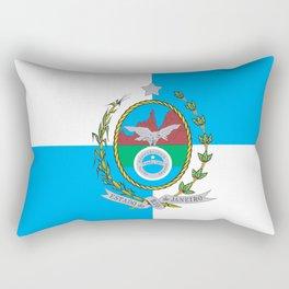 flag of the state of Rio de Janeiro Rectangular Pillow