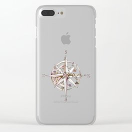Wind rose Clear iPhone Case
