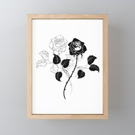 Two Roses Framed Mini Art Print