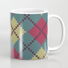 Faux Retro Argyle Knit Coffee Mug