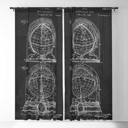 Tellurian World Globe 1947 Patent Blackout Curtain