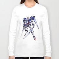 gundam Long Sleeve T-shirts featuring Gundam Wing by bimorecreative