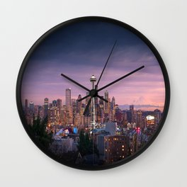 SEATTLE SUNSET Wall Clock
