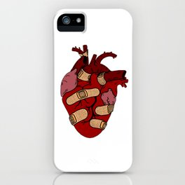 Band-Aid Heart  iPhone Case