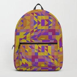 BOTANIC fuchsia pink magenta purple golden yellow abstract print Backpack